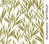 seamless hand drawn grass... | Shutterstock . vector #389750425