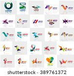 collection of colorful abstract ... | Shutterstock .eps vector #389761372