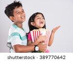 asian little boy and girl...   Shutterstock . vector #389770642