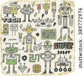 robots electrical  circuits ... | Shutterstock .eps vector #389772976