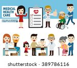 checkup healthcare concept..... | Shutterstock .eps vector #389786116