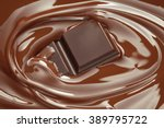 melting chocolate   melted... | Shutterstock . vector #389795722