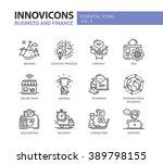 set of modern vector office... | Shutterstock .eps vector #389798155