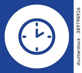 clock. vector icon blue and...