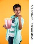 cute happy little indian boy... | Shutterstock . vector #389808472