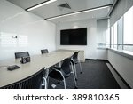 business meeting room or board... | Shutterstock . vector #389810365
