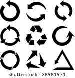 arrows icon collection. vector ... | Shutterstock .eps vector #38981971