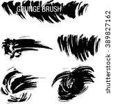 vector set of grunge brush... | Shutterstock .eps vector #389827162