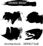 vector set of grunge brush... | Shutterstock .eps vector #389827168