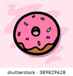 donut icon   a hand drawn...   Shutterstock .eps vector #389829628