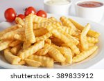 portion of french fries ... | Shutterstock . vector #389833912
