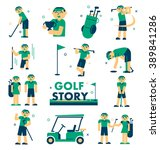 golf story  vector info graphic ... | Shutterstock .eps vector #389841286