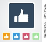 square flat buttons icon of... | Shutterstock .eps vector #389844736