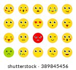 set of emoticons or emoji.... | Shutterstock .eps vector #389845456