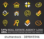 set of template logo for real... | Shutterstock .eps vector #389845546