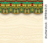 ornate curtain and ethnic... | Shutterstock .eps vector #389846515