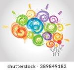 creative human brain in the... | Shutterstock . vector #389849182