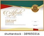 vector certificate template and ... | Shutterstock .eps vector #389850316