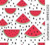 watermelon seamless pattern... | Shutterstock .eps vector #389851252