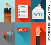 vote political elections... | Shutterstock .eps vector #389857498