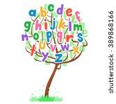 vector illustration of tree... | Shutterstock .eps vector #389868166
