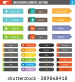 flat web design elements   set...