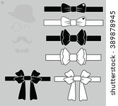 vector set tie butterflies...   Shutterstock .eps vector #389878945