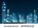oil refinery factory at... | Shutterstock . vector #389880448