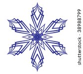 decorative snowflake. vector.   Shutterstock .eps vector #38988799