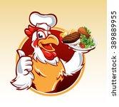 cartoon chicken . | Shutterstock .eps vector #389889955