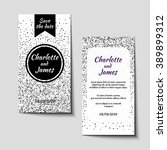 set of save the date card's... | Shutterstock .eps vector #389899312