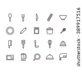 cooking tools icon set vector. | Shutterstock .eps vector #389917516