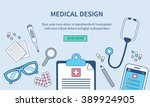 vector medical web banner... | Shutterstock .eps vector #389924905