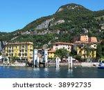 Varenna town at the famous Italian lake Como - stock photo