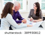 senior woman and man at... | Shutterstock . vector #389930812
