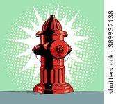 Cartoon Pop Art Red Hydrant....