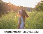 portrait pretty spring woman of ... | Shutterstock . vector #389963632