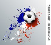 euro 2016 france football... | Shutterstock .eps vector #389968582