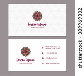 visiting card business card... | Shutterstock .eps vector #389969332