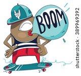 skateboarder | Shutterstock .eps vector #389969392