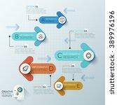 modern arrow business template. ... | Shutterstock .eps vector #389976196