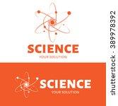 vector logo science. brand logo ... | Shutterstock .eps vector #389978392