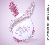 happy easter background with... | Shutterstock .eps vector #389983072