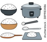 vector set of rice | Shutterstock .eps vector #389983486