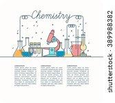 the background of teaching... | Shutterstock .eps vector #389988382