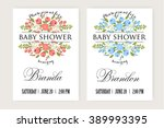 baby shower invitation | Shutterstock .eps vector #389993395