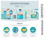 information technologies one... | Shutterstock .eps vector #389995972