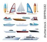 motor boats catamaran... | Shutterstock .eps vector #389996182