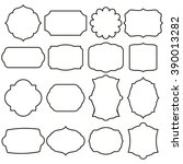 set of vector graphic frames   Shutterstock .eps vector #390013282