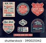 set of emblem  labels denim... | Shutterstock .eps vector #390025342